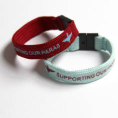 Fabric Parachute Regiment Charity Wristband