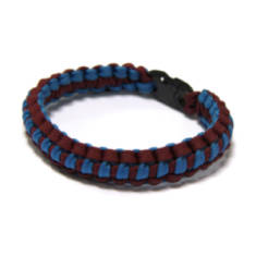 Lightweight Paracord Survival Bracelet - Maroon/Blue