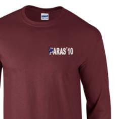 Long Sleeved T-Shirt - Maroon - Paras 10