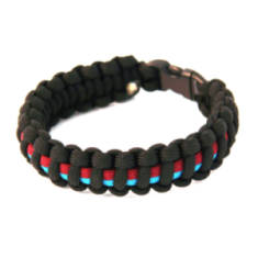Paracord Survival Bracelet - Black/Maroon/Blue