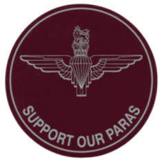 Support Our Paras Car Sticker