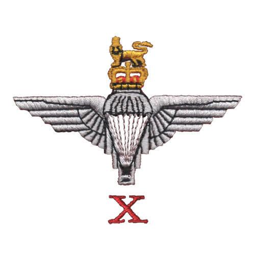 10 (X) Para Cap-Badge