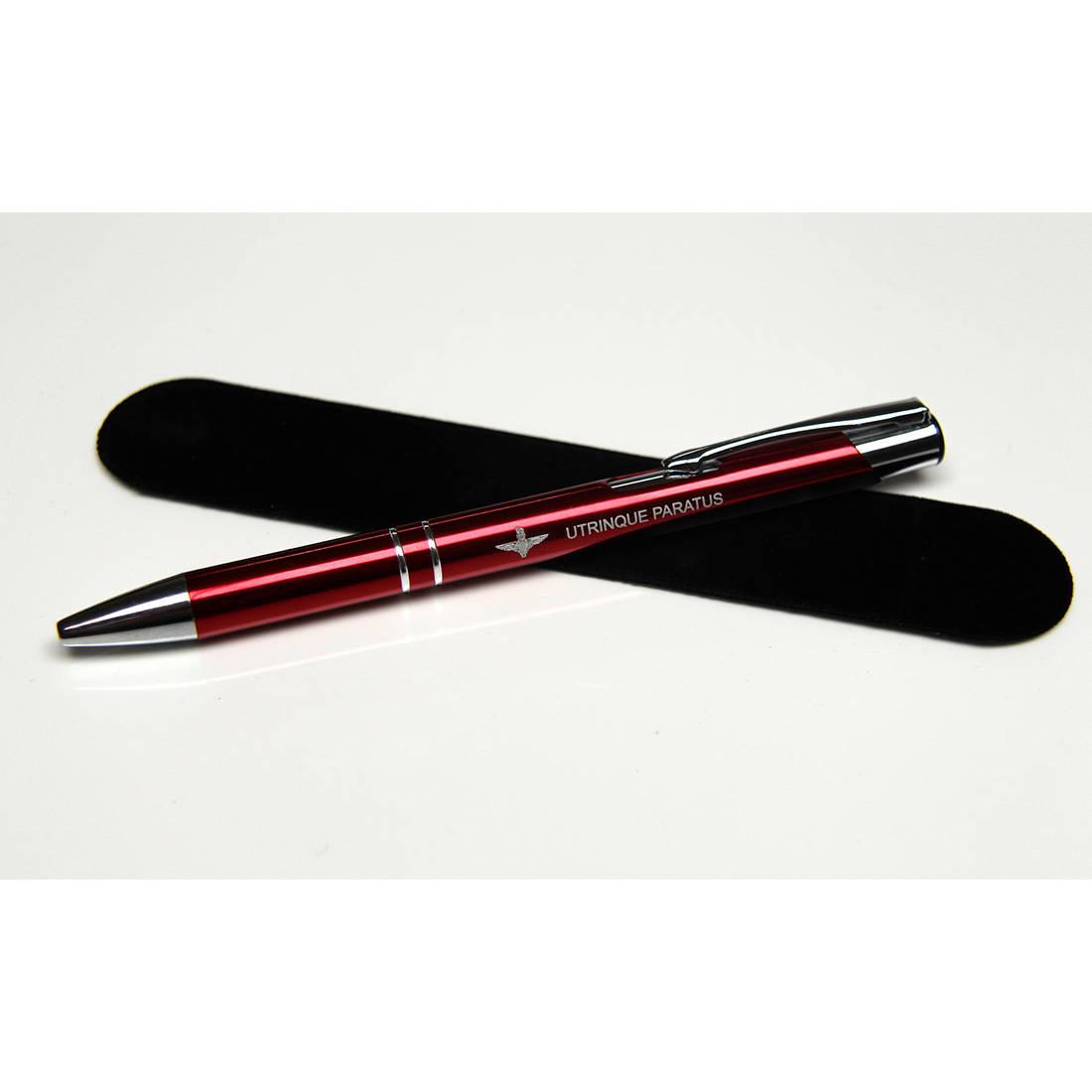 Para Utrinque Paratus Metal Pen, Maroon, With Pouch