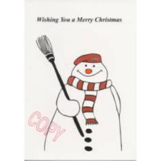 Christmas Card - Para Snowman (Cartoon)