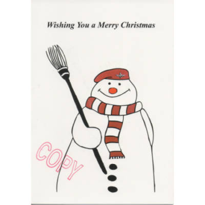 Christmas Card - Para Snowman (Cartoon)