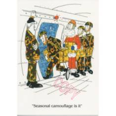 Christmas Card - Seasonal Camo (Cartoon)