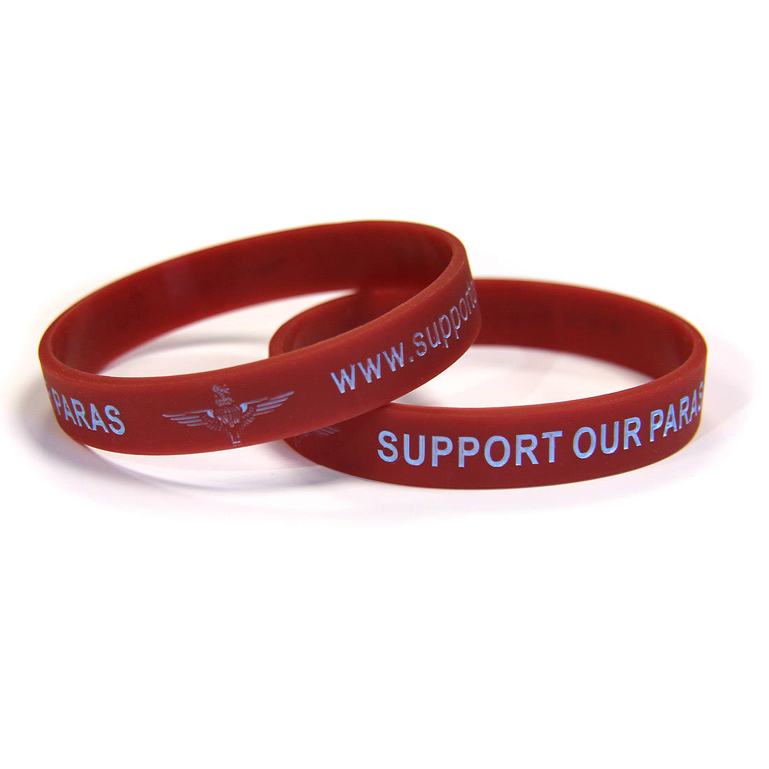 SUPPORT OUR PARAS Maroon Charity Wristband