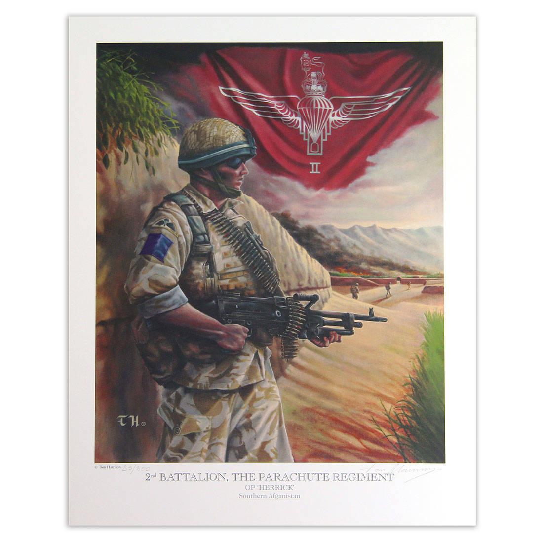 2 Or 3 Para Afganistan Op Herrick By Tom Harrison Print