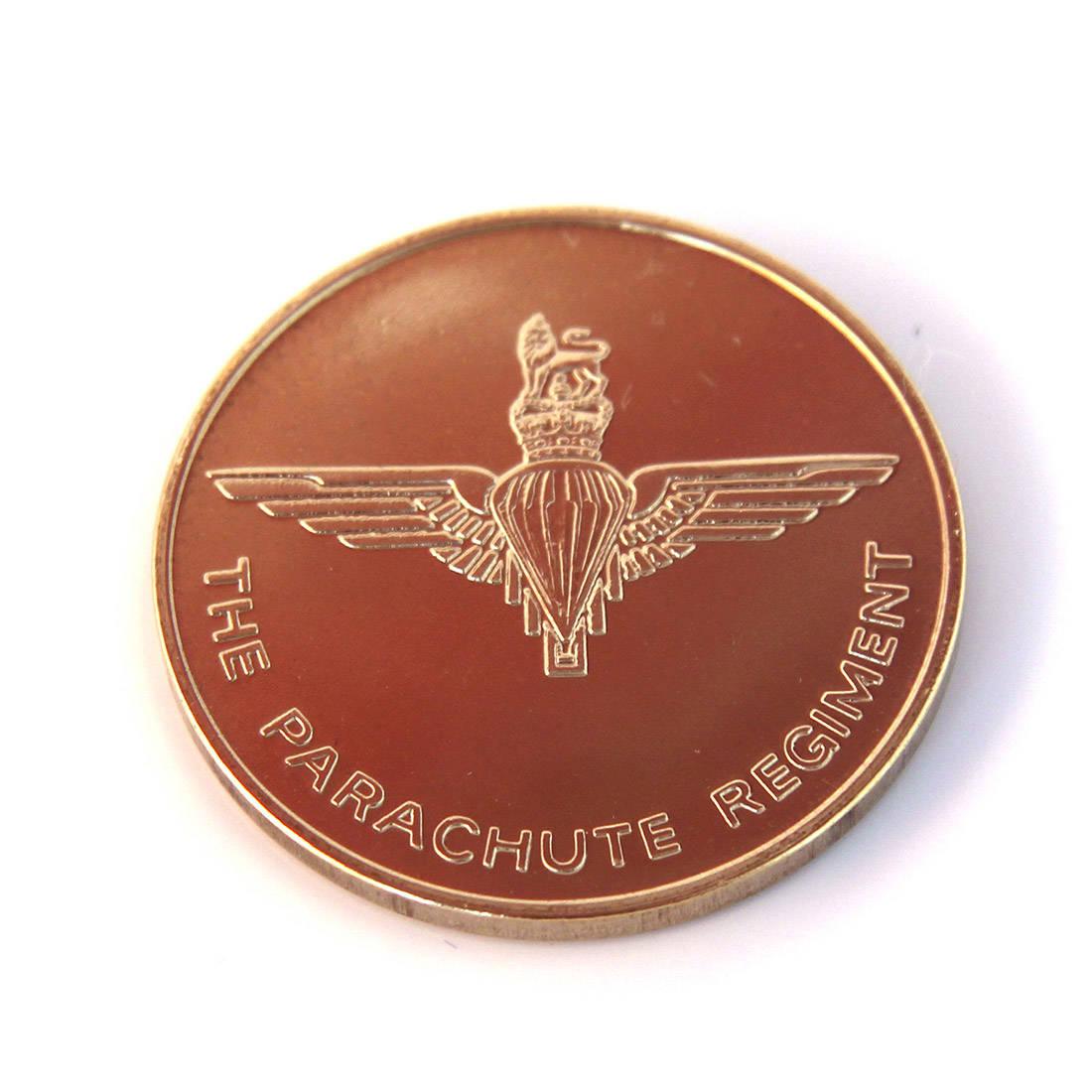 Parachute Regiment Fridge Magnet (24ct Gold Plated, Round)