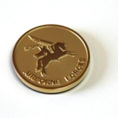 Pegasus Fridge Magnet (24ct Gold Plated, Round)