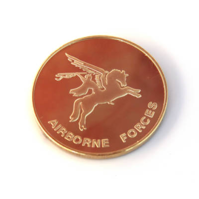 Pegasus Fridge Magnet (24ct Gold Plated, Round)