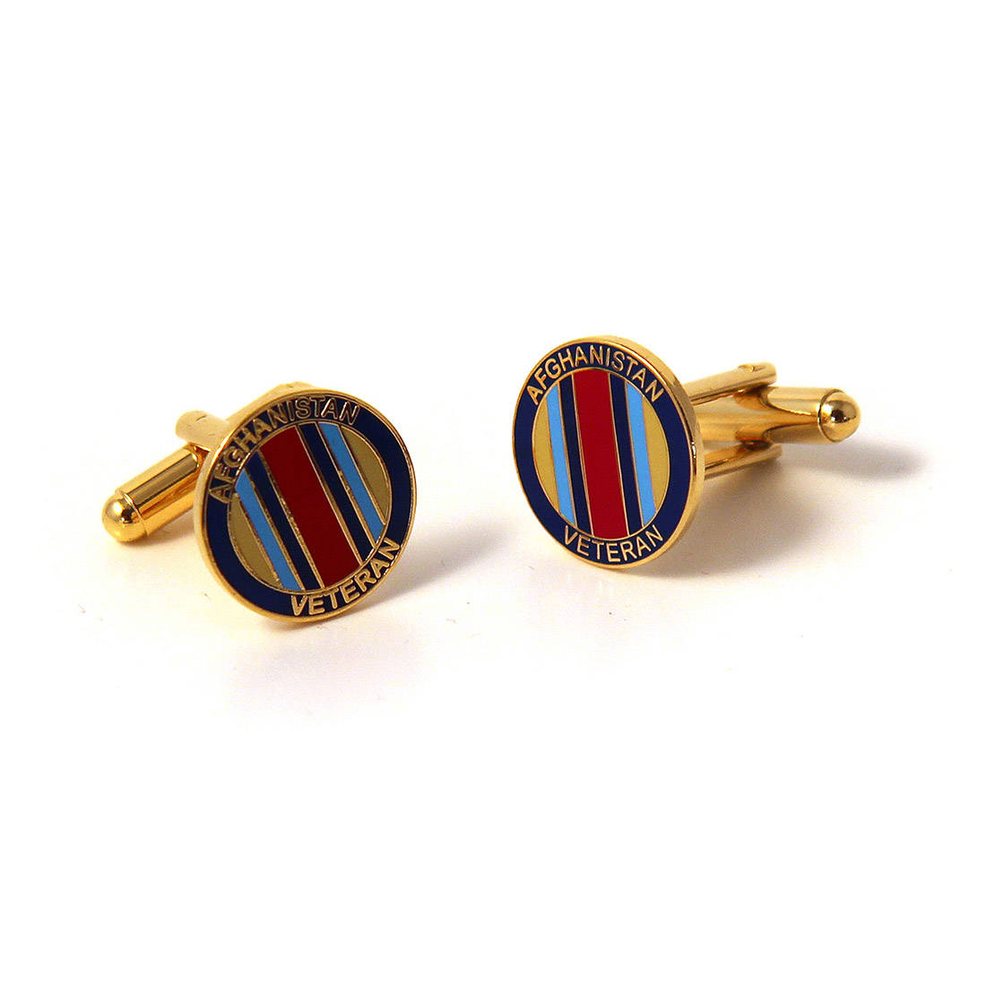 Afghanistan Veteran Cufflinks (Enamel Badge)