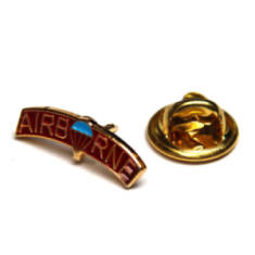 Rounded Airborne Lapel Badge