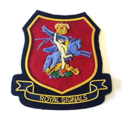 Airborne Signals Blazer Badge