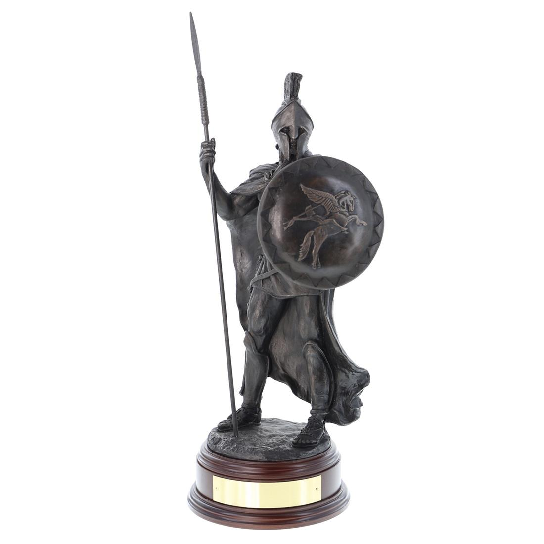 Airborne Spartan Warrior Statue (Resin Bronze)