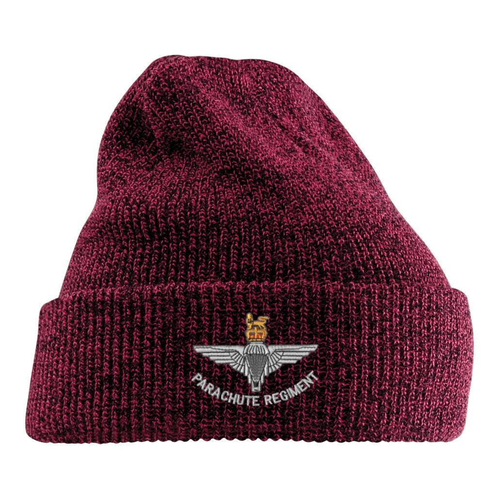 Antique Turn-Up Beanie Hat - Para Cap-Badge