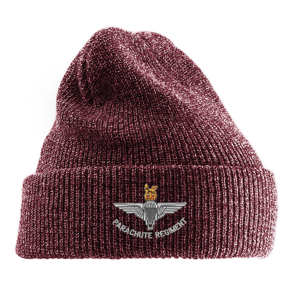 Antique Turn-Up Beanie Hat - Para Cap-Badge