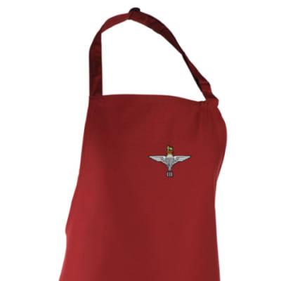 Apron - Maroon - 3 Para Cap-Badge (Print)