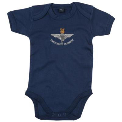*CLEARANCE* Baby One-Piece, 3 - 6 Months, Navy Blue, Para Cap-Badge