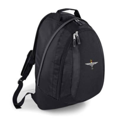 Backpack - Black - 3 Para Cap-Badge (Print)