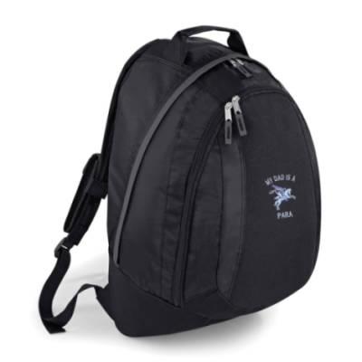Backpack - Black - My Dad Is A Para (Pegasus)