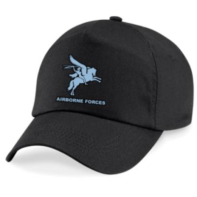 *CLEARANCE* Baseball Cap, Black, Pegasus Airborne Forces (Print)