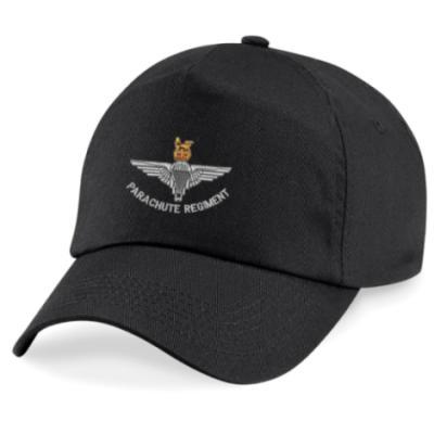 *CLEARANCE* Baseball Cap, Black, Para Cap-Badge