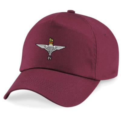 Baseball Cap - Maroon - 4 Para Cap-Badge (Print)
