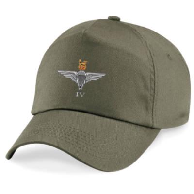 Baseball Cap - Olive Green - 4 Para Cap-Badge