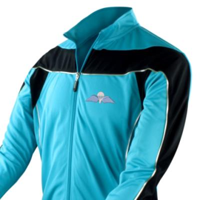 *CLEARANCE* Long Sleeved Performance Bike Top, XL, Blue, Jump Wings