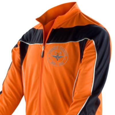 Long Sleeved Performance Bike Top - Orange - Airborne 75 (Para)