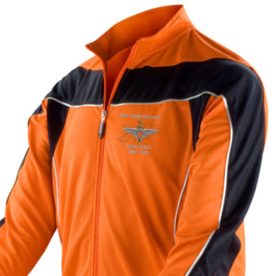 Long Sleeved Performance Bike Top - Orange - Falklands 30th