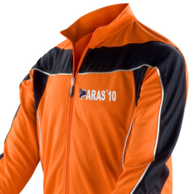 Long Sleeved Performance Bike Top - Orange - Paras 10