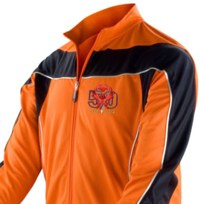 Long Sleeved Performance Bike Top - Orange - Red Devils 50th
