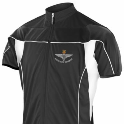 *CLEARANCE* Short Sleeved Performance Bike Top, XXL, Black, Para Cap-Badge