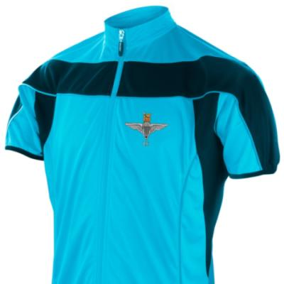 *CLEARANCE* Short Sleeved Performance Bike Top, XXL, Blue, 2 Para Cap-Badge