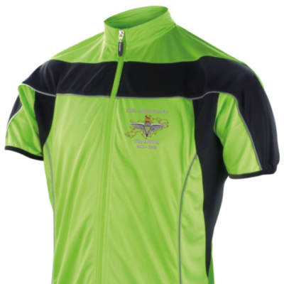 Short Sleeved Performance Bike Top - Lime Green - Falklands 30th