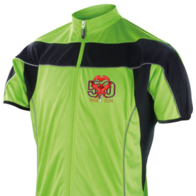Short Sleeved Performance Bike Top - Lime Green - Red Devils 50th