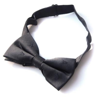 Black Subdued Pegasus Bow Tie (Silk)