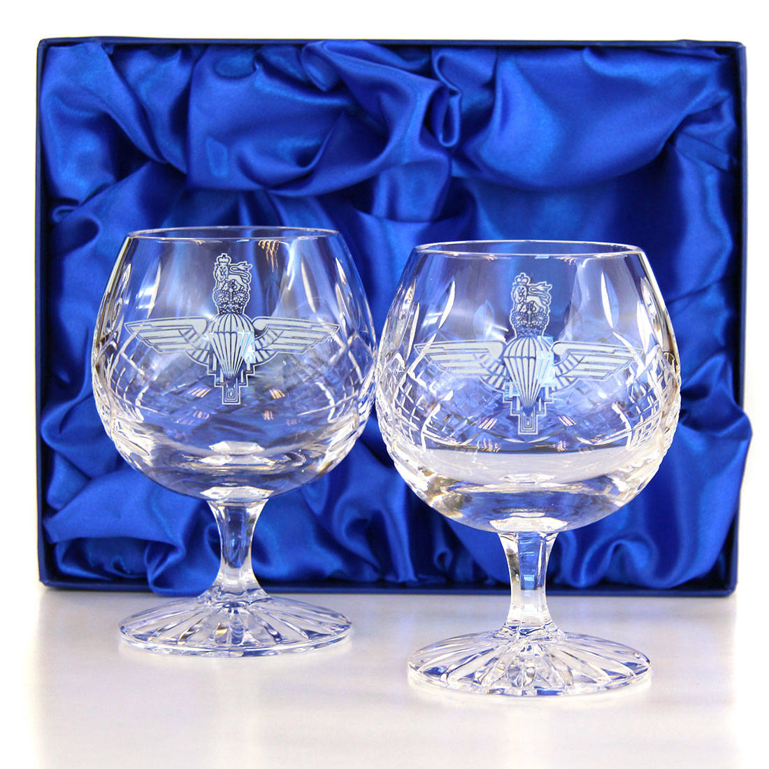 Panel Cut Brandy Goblets (Pair) in Presentation Box
