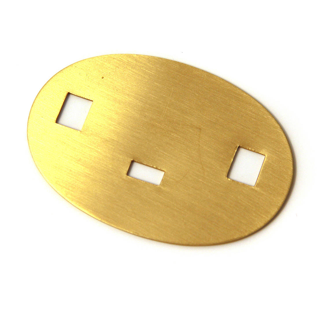 Brass Backing Plate for Cap Badge