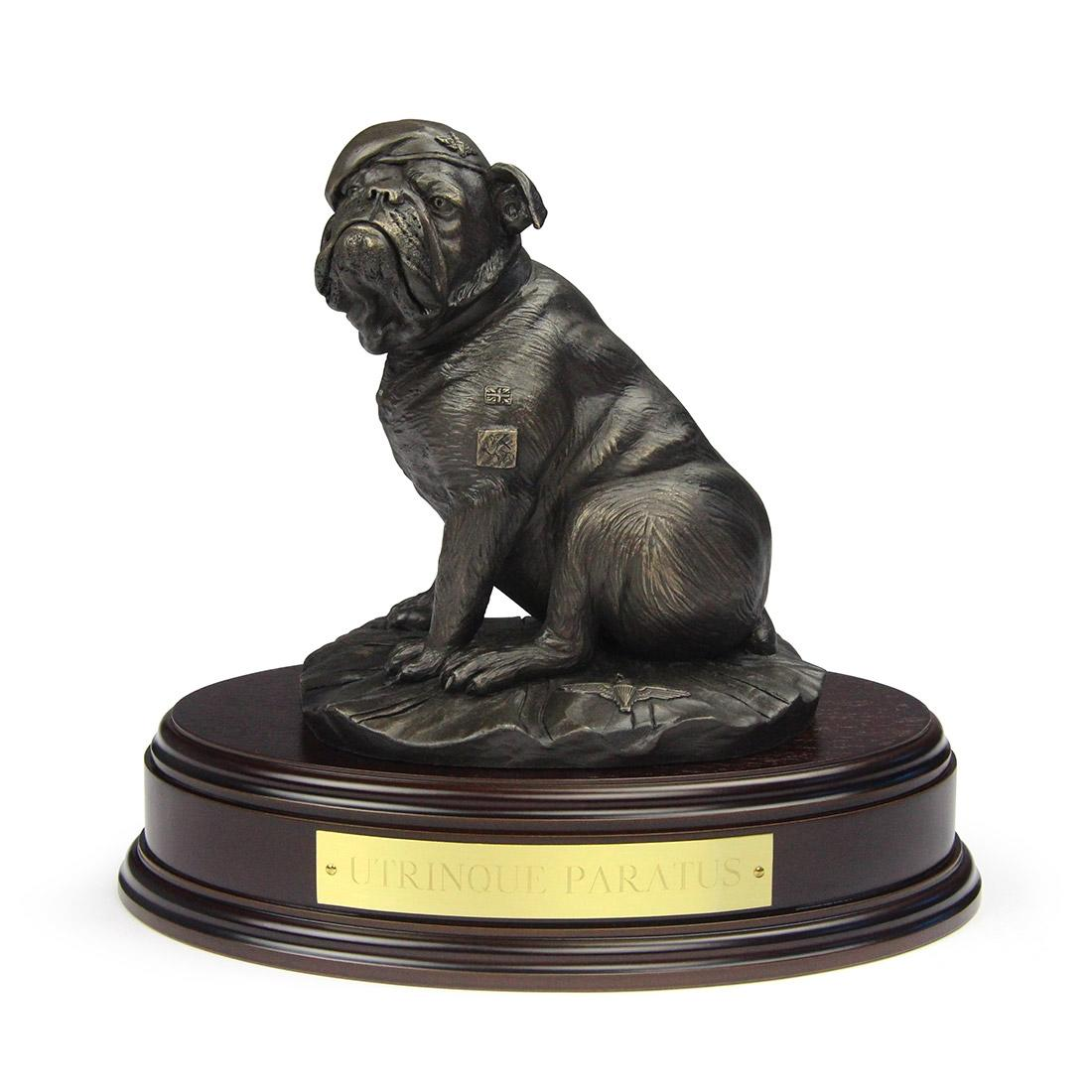 Parachute Regiment Bulldog Statue (Resin Bronze) - Front