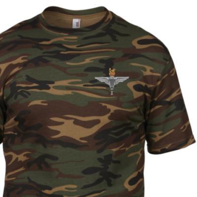 *CLEARANCE* Camo T-Shirt, Medium, DPM, 1 Para Cap-Badge