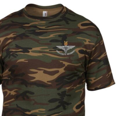 *CLEARANCE* Camo T-Shirt, XXL, DPM, Para Cap-Badge