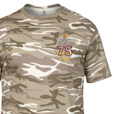 Camo T-Shirt - Sand MTP - Ardennes 75th (Para)