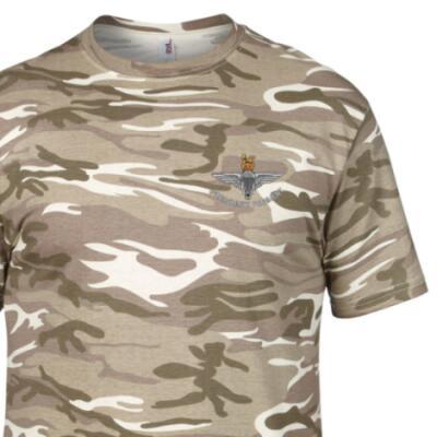 *CLEARANCE* Camo T-Shirt, Small, Sand MTP, Para Cap-Badge