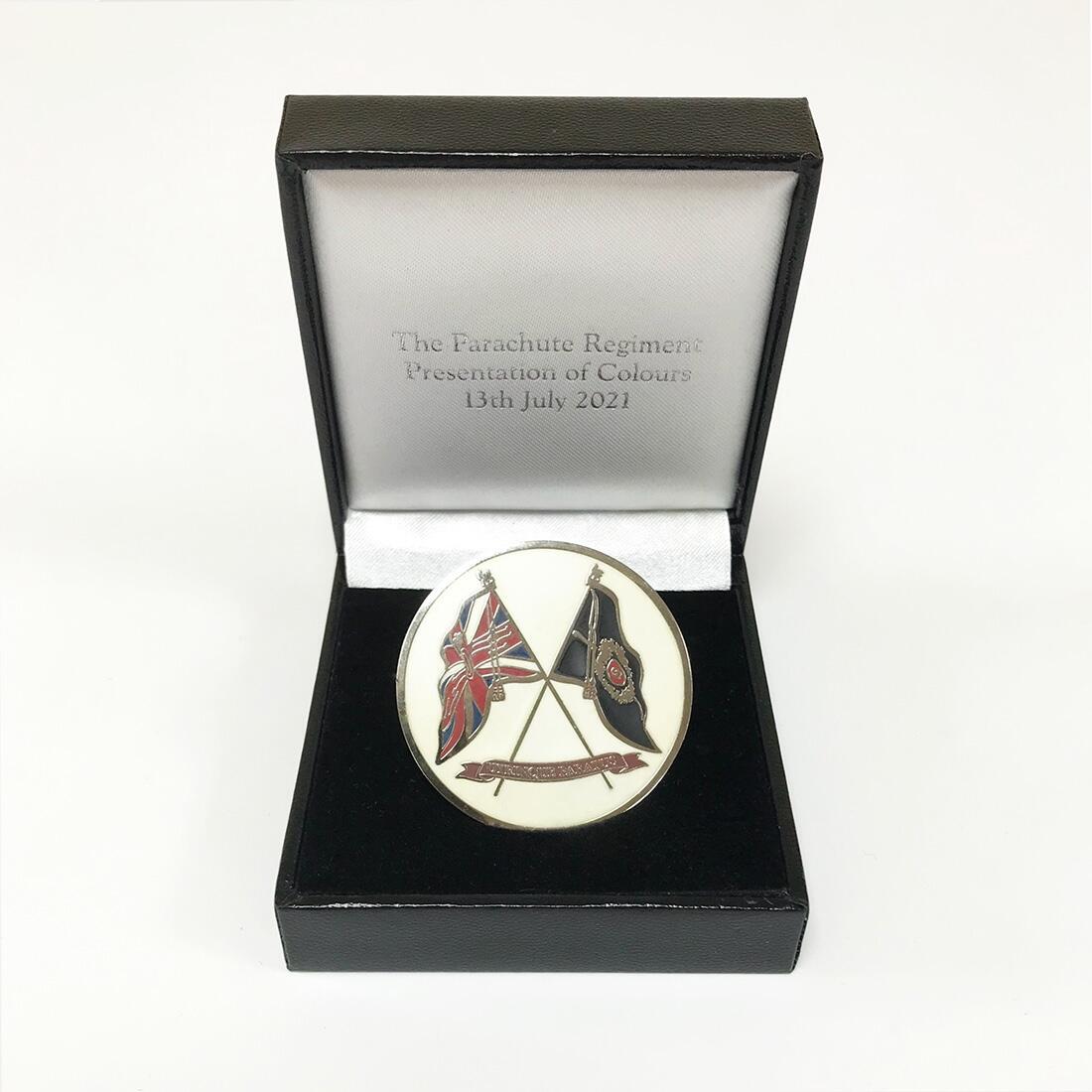 Challenge Coin in Presentation Box - Presentation of Colours 2021