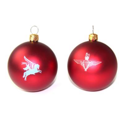 Maroon Christmas Bauble - Para or Pegasus