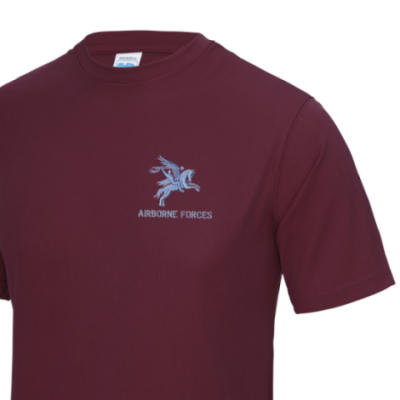 *CLEARANCE* Gym/Training T-Shirt, XL, Maroon, Pegasus Airborne Forces