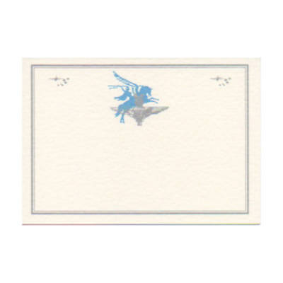 Greetings Card - Cream with Para Cap Badge and Pegasus